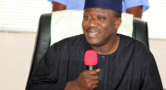 Gov Fayemi presents cheque of N100m for payment of pensioners' gratuities