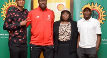 At The NNPC/Shell Cup scholarship for Most Valuable Player Announcement.