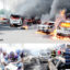 Oil Tanker Tragedy Claims 9 Lives, Burn 53 Vehicles In Lagos  ..Buhari Describes It As Worst Tragedy