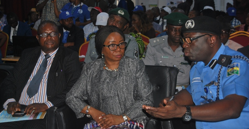 LEFT TO RIGHT: Acting Director General Securities and Exchange Commission (SEC) Ms. Mary Uduk and Assistant Commissioner Administration, Nigeria Police Force, Mr. Victor Erivwode at the Town Hall Meeting on Current Initiatives by the SEC held in Port Harcourt, Wednesday