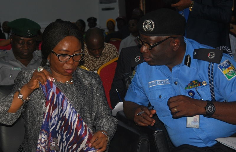 LEFT TO RIGHT: Director General Port Harcourt Chamber of Commerce,Industry Mines and Agriculture (PHCCIMA) Mr. Erasmus Chukunda, Acting Director General Securities and Exchange Commission (SEC) Ms. Mary Uduk and Assistant Commissioner Administration, Nigeria Police Force, Mr. Victor Erivwode at the Town Hall Meeting on Current Initiatives by the SEC held in Port Harcourt, Wednesday