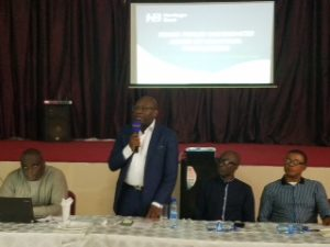 L-R: Chief Audit Executive, Heritage Bank, Prince Akamadu; MD/CEO of the Bank, Ifie Sekibo; Group Head, Internal Control, Internal Audit, Olusoji Adeyeye and Head, Experience Centre Audit, Internal Audit, Ebenezer Ezele, at a 3-day yearly Internal Control and Audit Conference organised by Heritage Bank in Lagos.