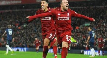 Substitute Shaqiri strikes twice as Liverpool see off Manchester United
