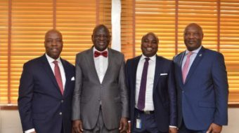 Ecobank Management team visits ICAN Head Office, Lagos