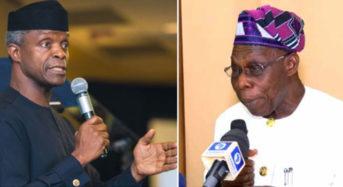 Osinbajo Says Obasanjo Ignorant Or Mischievous About Tradermoni