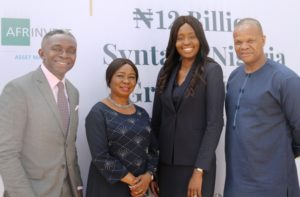 Managing Director, Afrinvest (West Africa) Mr Ike Chioke, Acting Director General,  Securities and Exchange Commission ,  Ms Mary Uduk, Managing Director, Syntaxis Capital Africa, Mrs Adesuwa Okunbo and Former, Commissioner SEC, Mr Ugo Ikemba during the Official Launch of the Syntaxis Nigeria Growth Fund in Abuja yesterday