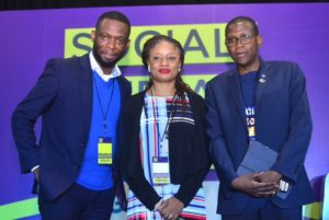 Pic . L-R: Lecturer, Nottingham Business School, and Founder of the Been-There-Done-That Hub (BTDT Hub), Dr. Dipo Awojide; Head, Marketing and Communications, Stanbic IBTC, Mrs. Bridget Oyefeso-Odusami; and Group Chief Executive, Stanbic IBTC Holdings PLC, Mr. Yinka Sanni, during the Stanbic IBTC's Masterclass Session on 'Money Management Tips For Your Enterprise' at the Social Media Week Lagos 2019 on Friday, February 8, 2019
