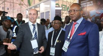 inspection of the Shell Nigeria exhibition booth at the 2nd edition of the Nigeria International Petroleum Summit in Abuja