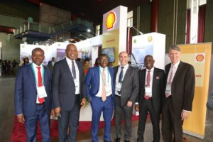 L-R: General Manager, Business and Government Relations Shel Nigeria, Bashir Bello; Country Chair, Shell Companies in Nigeria, Osagie Okunbor; Group General Manager, Corporate Planning and Strategy, Nigerian National Petroleum Corporation, Bala Wunti; Vice President, Shell Nigeria and Gabon, Peter Costello; Managing Director Shell Nigeria Exploration and Production Company, Bayo Ojulari; and General Manager, Shell Nigeria Upstream Gas and Commercial, Hans Nijkamp, at the just concluded 2nd Edition of the Nigeria International Petroleum Summit in Abuja.