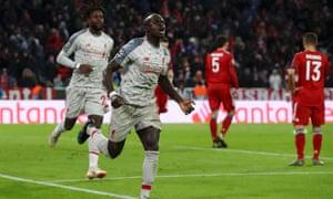 Mané, Van Dijk Take Liverpool Past Bayern Munich
