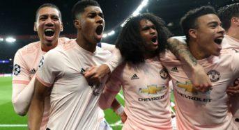 Champions League: Man Utd beat PSG 3-1 to seal miracle night in Paris