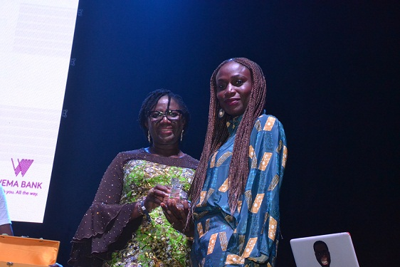 Pix 916...L-R: Executive Director, Business Support, Wema Bank PLC, Folake Sanu; Managing Director/CEO, Ademola Adebise and  Head, Brands and Marketing Communication, Funmilayo Falola, at the bank's sponsored Songversation With Aramide (SWA) and unveiling of Sara by Wema held at TerraKulture VI, Lagos..on Friday