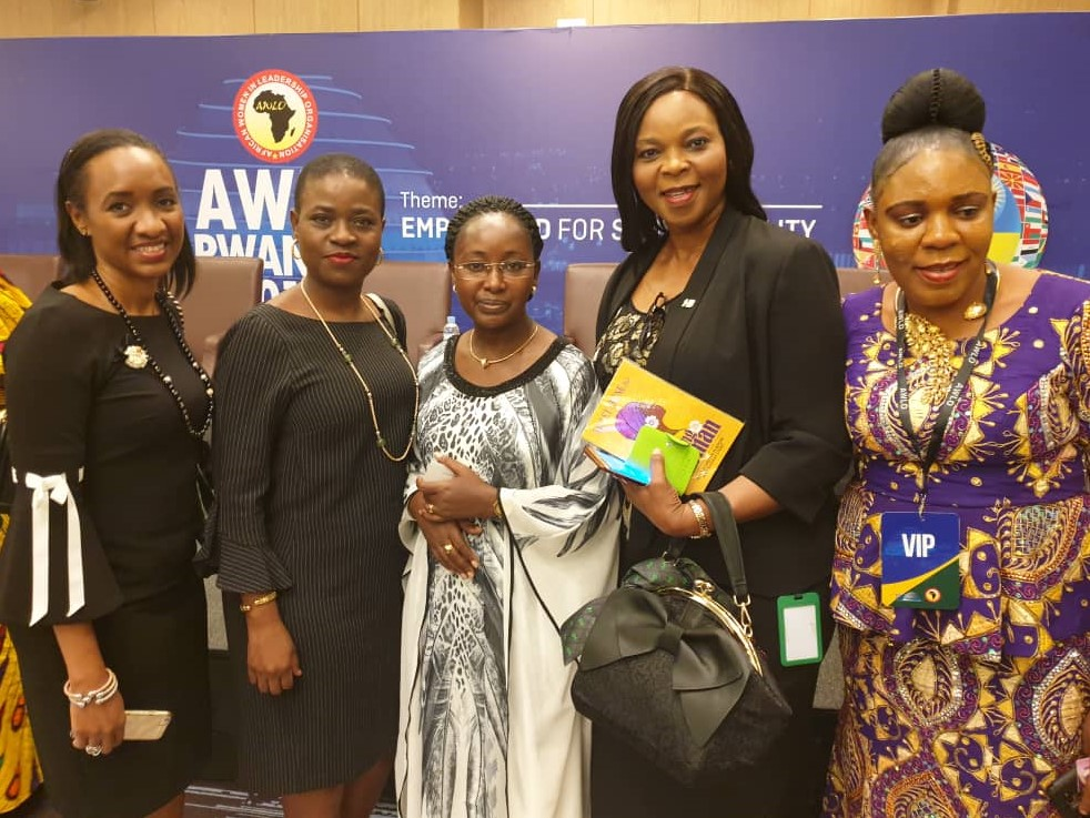 L-R: Afolasade Alonge, Divisional Head, Corporate & Specialised Banking, Heritage Bank Plc; Kikanwa Akpenyi, Group Head, Customer Experience & Analytics; Amb. Soline Niyirahabimana, Hon. Minister of Gender & Family Promotion; Mother Dan-Egwu, Group Head, Experience Centre Coordination and Rev. (Dr) Uche Juliet Ajirison, Port Harcourt Coordinator of African Women in Leadership Conference (AWLO), during the African Women in Leadership Organisation Conference held in Kigali Rwanda, yesterday.