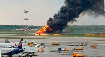 41 Killed After Plane Erupts In Flames In Emergency Landing At Russian Airport