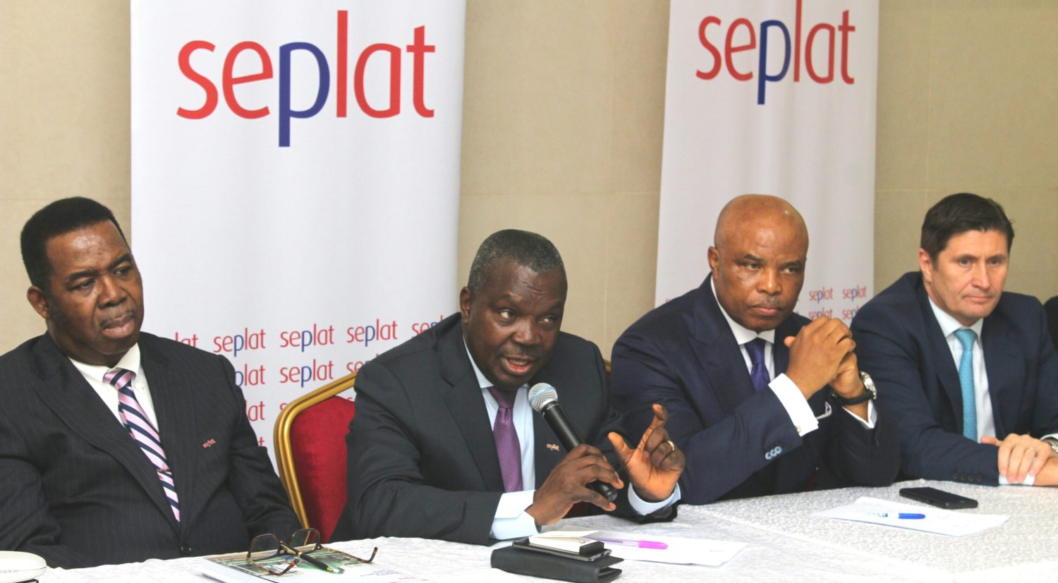 L-R: Mr. Basil Omiyi, Director, Seplat Petroleum Development Company Plc; Mr. Austin Avuru, Chief Executive Officer; Dr. A.B.C. Orjiako, Chairman; and Roger Brown, Chief Financial Officer, during the company's 6th Annual General Meeting held in Lagos, yesterday.