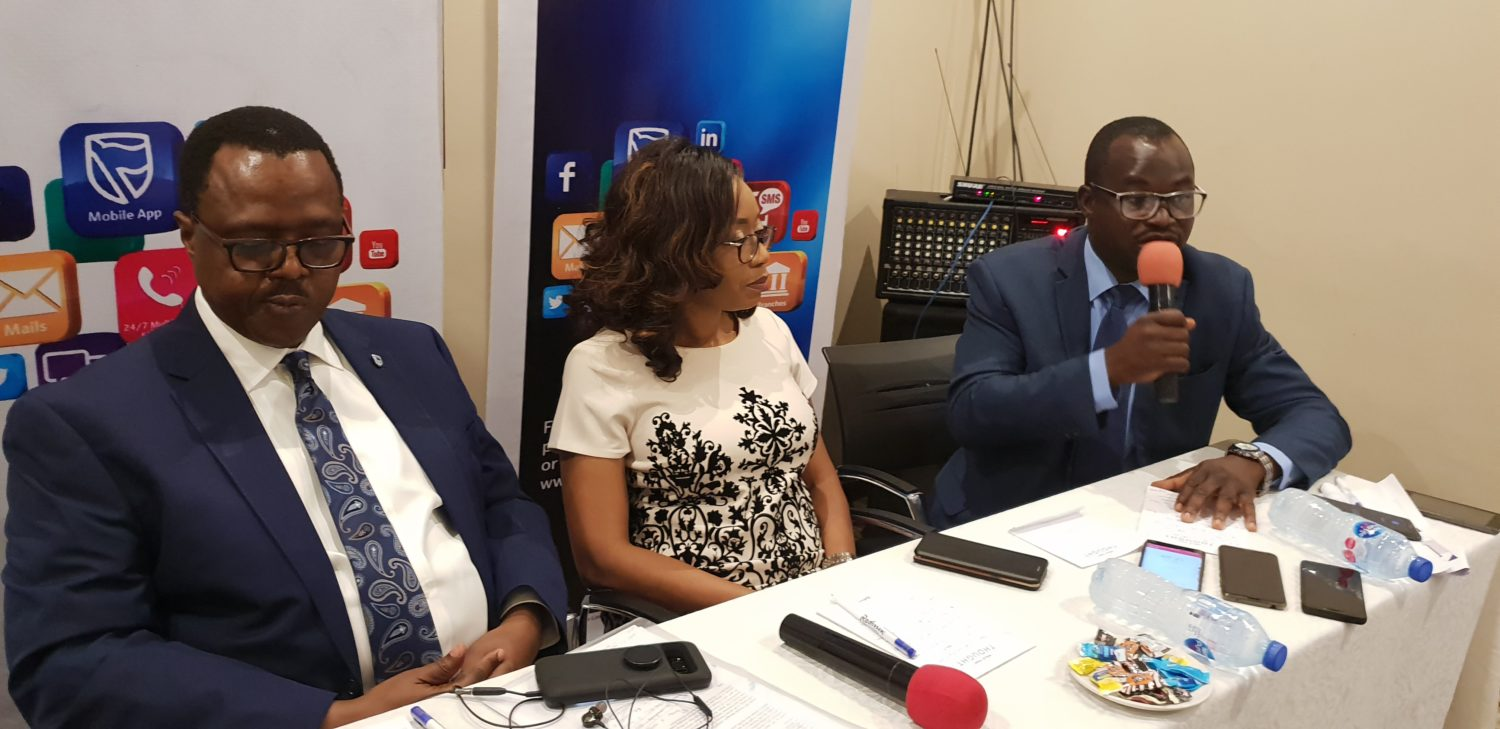 Stanbic IBTC Pensions Retire Well Launch L-R Chief executive officer Stanbic IBTC Pensions Mr. Eric Fajemisi, Executive director development, Nike Bajomo and Head Micropension Mr. Bimbo Oladele at the Retire Well Scheme launch in Lagos today Picture by Yemisi Izuora