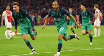 Spurs Beats Ajax 3-2 (3-3 Aggregate) To Set Up All English Finals In Madrid