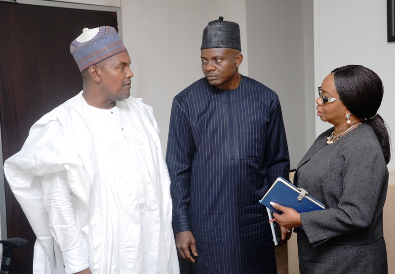 FRC, 3,3A,4, L-R,    Board  Member,  Financial Reporting Council of Nigeria, Alh  Ahmed Rabiu, Executive Secretary  FRC, Mr Daniel Asapokhai and Acting  Director General, Securities and Exchange Commission Ms Mary Uduk during a Meeting on the Implementation of the Nigerian Code of Corporate Governance  2018 between FRC and SEC in Abuja, weekend