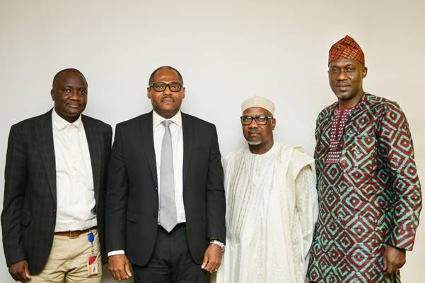 L–R: External Relations Manager, Shell Nigeria Gas (SNG), Tunde Olaleke; SNG's Managing Director, Ed Ubong; President, Manufacturers Association of Nigeria (MAN); Mansur Ahmed; and MAN's Director General, Segun Ajayi-Kadir, during a visit to SNG to discuss cleaner, reliable and affordable energy supply to industries and manufacturing plants in Nigeria… recently