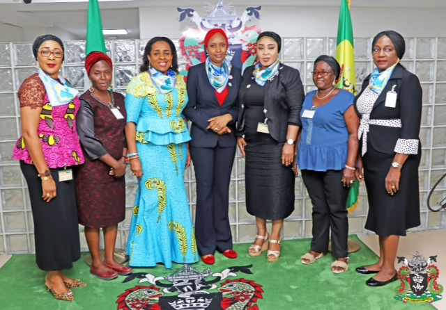 2. The Managing Director, Nigerian Ports Authority (NPA), Hadiza Bala Usman (middle) and other Executives of WIMA, during a courtesy visit on the Managing Director at the Nigerian Ports Authority (NPA) Corporate Headquarters in Lagos.