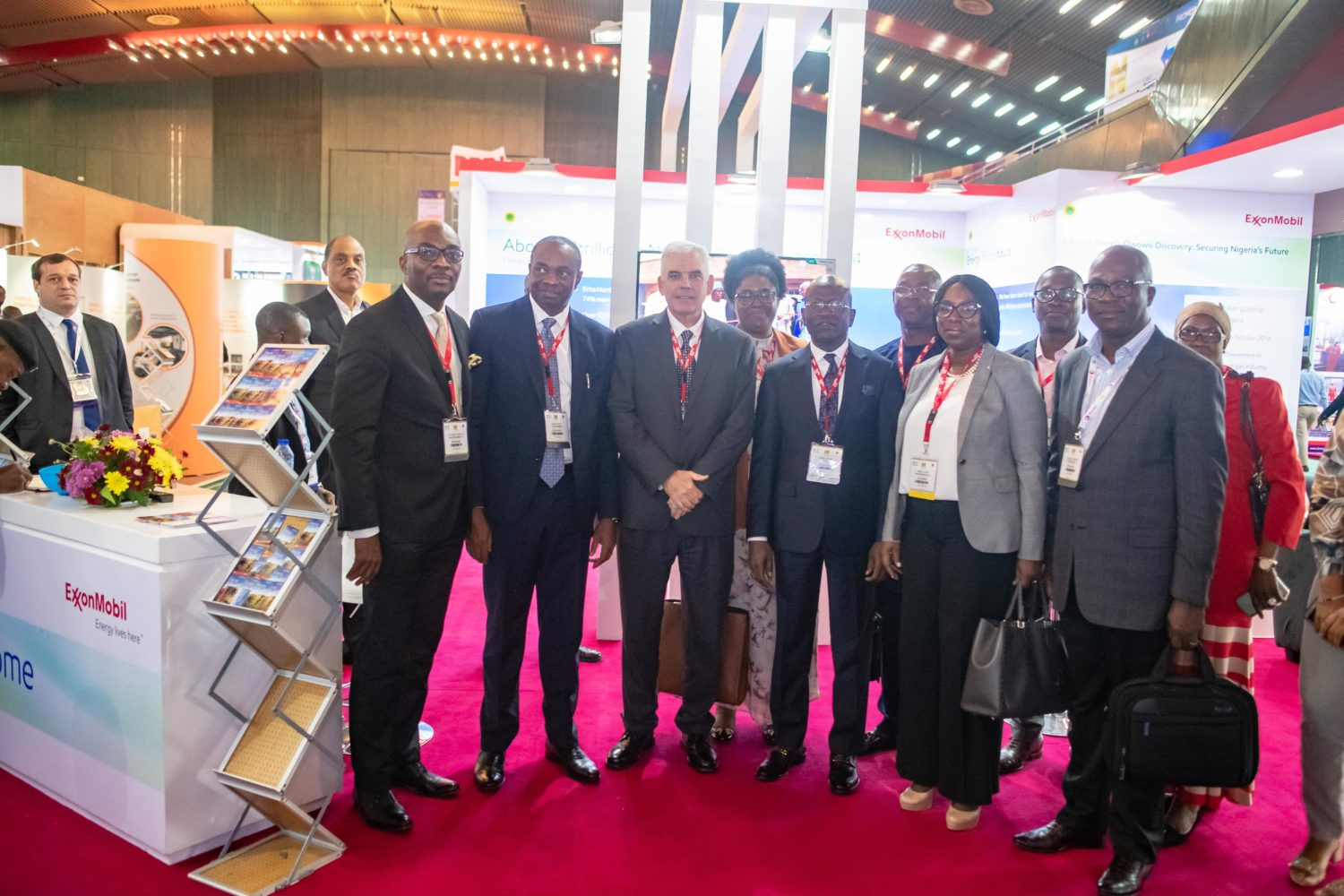 2.       NOG Photo 2: ExxonMobil Nigeria's Management team at the 2019 Nigeria Oil and Gas Conference and Exhibitions in Abuja: L-R Oge Udeagha, Manager Media and Communications; Udom Inoyo, Vice Chairman; Paul McGrath, Chairman/Managing Director; Eme Udom, GM Venture Relations; Niyi Idowu, GM External Relations; Tony Abbah, Manager VR; Omolola Ani, GM Wells; Ozemoya Okordion, Government Relations Advisor; Segun Banwo, ED/CFO.