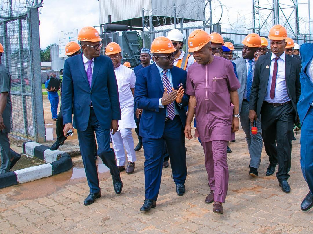 Chairman/CEO, Waltersmith Petroman Oil Ltd  Mr. Abdulrazaq Isa;  Governor of Imo State H.E Emeka Ihedioha, CON; and Hon. (Engr) Gerald Irona, the Deputy Governor of Imo State, during the facility visit of the state executives to WalterSmith Petroman Refinery site located in Ohaji-Egbema, Imo State recently.