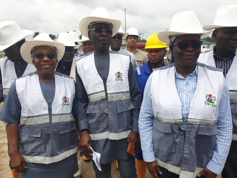 L-R, Mr. Sanya Bajomo, Head Gas DPR,  Mr. Ahmad Shakur,  Ag. Director DPR and Mrs. Ibidun Toweh, Head Engineering and Standards- DPR  during the pre- commission visit.