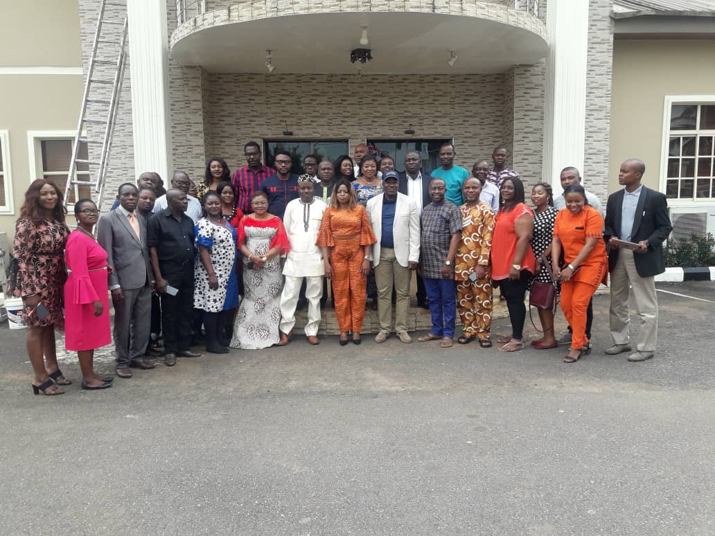 Insurance Journalist Seminar Photo News: Journalist With The Deputy Commissioner For Insurance, Technical, Mr Sunday Thomas and some NAICOM Staff.