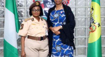 NPA Photo News: During Comptroller of Immigration Service, Lagos Seaport/Marine Command Comptr. Olubusola Fashakin Courtesy Visit To NPA Headquarters In Lagos.