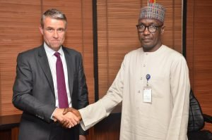 Photo 2 - Mr. Mike Sangster, MD/ Country Chair of Total Upstream Companies in Nigeria (left), with Malam Mele Kyari, Group Managing Director, Nigerian National Petroleum Corporation (NNPC).