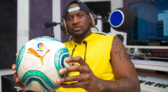 Peter Okoye (Mr P), VJ Adams 'Unboxes' New LaLiga Ball