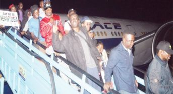 Another Batch Of Nigerian Returnees From S/Africa Arrive Lagos