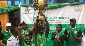 CBN FC beat Unity Bank FC 1-0 to win 2019 AFIFC