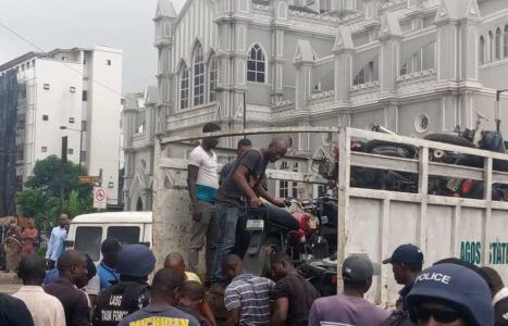 Lagos Task Force Impounds 134 Motorcycles