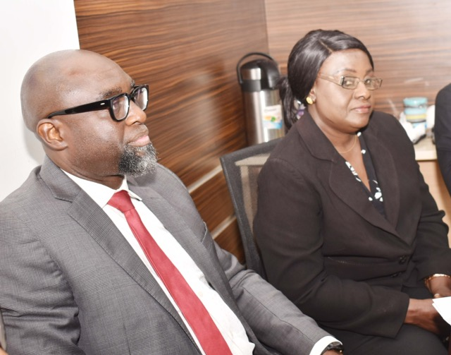 3. L-R, Principal Manager, International Relations Division, Securities and Exchange Commission, Mr Tony Iloka with Deputy Permanent Secretary, Ministry of Finance and Economic Affairs The Gambia Mrs Juldeh Ceesay during a Meeting between SEC and Ministry of Finance and Economic Affairs The Gambia, in Abuja, Tuesday