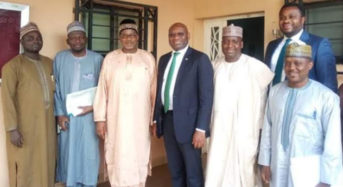Heritage Photo News : During The Bank's Business Call  To The Bauchi State Governor On Developmental Project Partnership With The Bank.