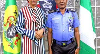 Photo: THE COMMISSIONER OF POLICE, PORTS AUTHORITY POLICEWESTERN COMMAND VISITS MD NPA
