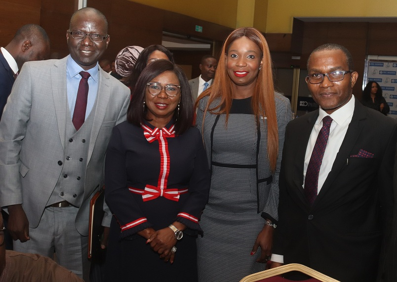 Left to Right: Acting Executive Commissioner Operations Securities and Exchange Commission, SEC Mr. Isyaku Tilde, Ag. Director General, SEC, Ms. Mary Uduk, Managing Director, FMDQ Securities Exchanges Ltd, Tumi Sekoni and Dr Joseph Meikiluwa of FMDQ Group at the SEC's Budget Seminar in Lagos, weekend