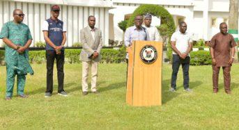 Lagos State Photo News: Gov. Sanwo-Olu Briefs The Press On COVID-19 At Lagos House Marina.