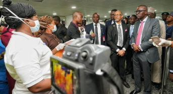 Lagos State Governor Visits Airport To Assess Screening Facilities