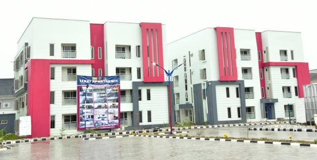 The newly commissioned Courtland Luxury Villas in Lekki by Governor Babajide Sanwo-Olu, on Thursday, May 28, 2020.