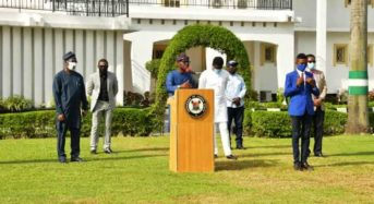GOV. SANWO-OLU BRIEFS ON COVID-19 (GUIDELINES AND PROTOCOLS FOR SECOND PHASE OFEASING OF LOCKDOWN) AT LAGOS HOUSE, MARINA, ON THURSDAY, JUNE 4, 2020