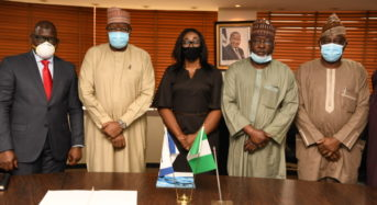 NCC Photo News: During The Signing Of The MoU To Ascertain Value-Added Tax (VAT) Elements In Telco's Transactions In Abuja On Tuesday.