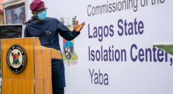 Lagos State Photo News : At The Commissioning Of Isolation Centre In Yaba Lagos By Gov. Sawo-Olu.