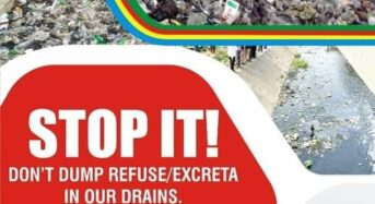Lagos State Government Urges Residents to Stop Indiscriminate Dumping of Refuse into Drains