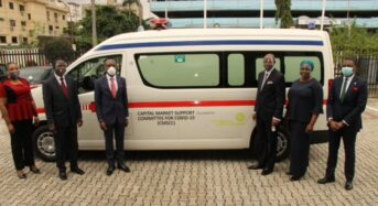 NSE Photo News: During The NSE's donation Of An An Ambulance And N60 Million To Support CMSCC In The Against COVID-19