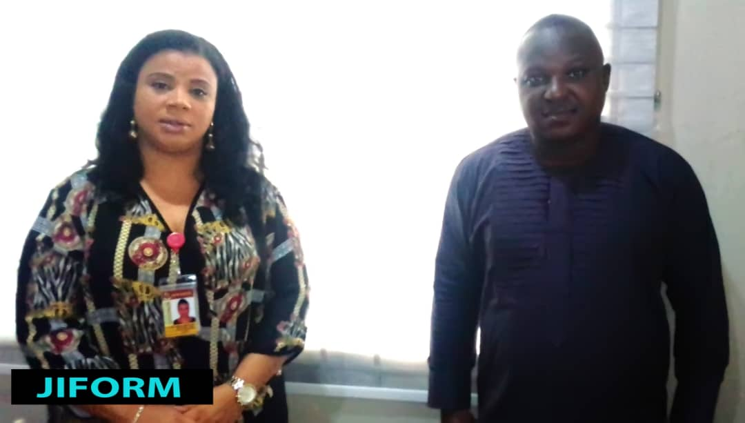 President, Journalists International Forum For Migration, JIFORM, Ajibola Abayomi (right) during a visit to Hon Bolanle Sarumi, the Senior Special Assistant on Diaspora Matters to Oyo State Governor on Thursday, September 3, 2020 in Ibadan ahead of JIFORM 2nd International Migration summit to be hosted in the state.