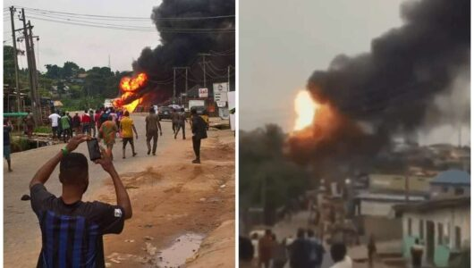 Scores Injured As Gas Tanker Explodes In Lagos