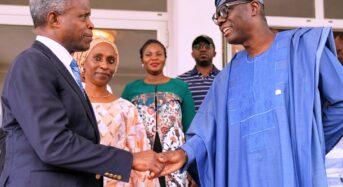 Sanwo-Olu Felicitates With Osinbajo At 64