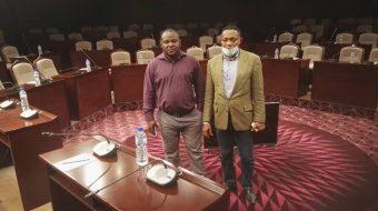 JIFORM Photo News: Ajibola Abayomi, President Journalists International Forum For Migration (JIFORM), And Dr Azuma Ijoma, A Partner Of JIFORM In Togo